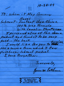 letter from james cothren